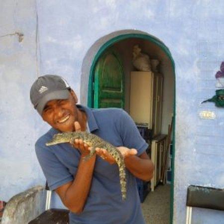 Nubian Village and crocodile