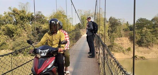 Battambang suspension bridge Cambodia.