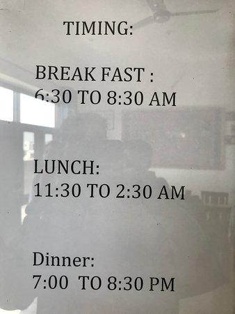 Meal timings
