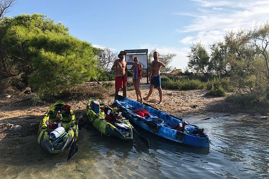 Kayak excursion: Porto Cesareo, the Marine Protected Area and the...