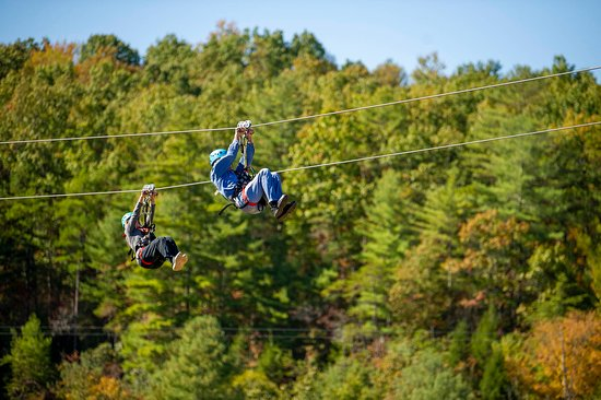 Have a blast on our 5-line zipline tour through the woods and over the Red River Gorge!