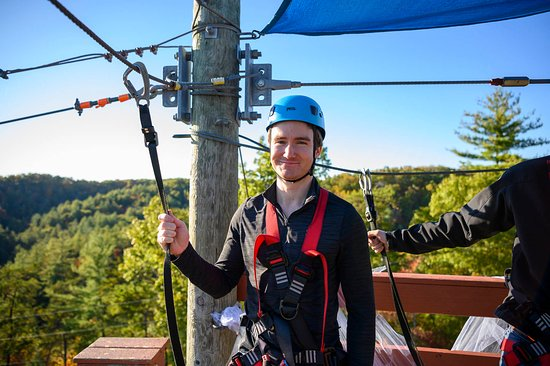 Take in the gorgeous views on our 5-line zipline tour through the woods and over the Red River Gorge!