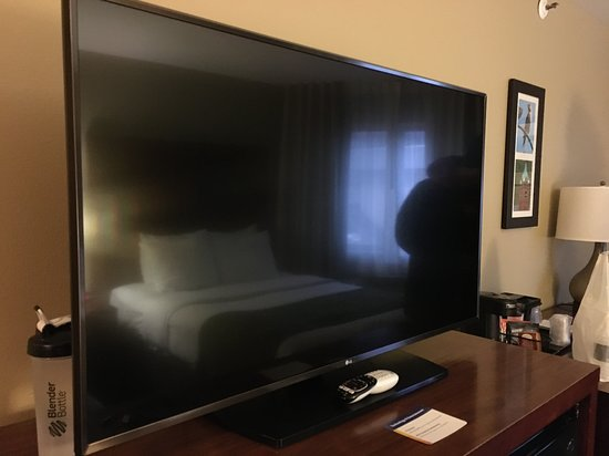 One of the larger (Room) TV screens in a Comfort Inn