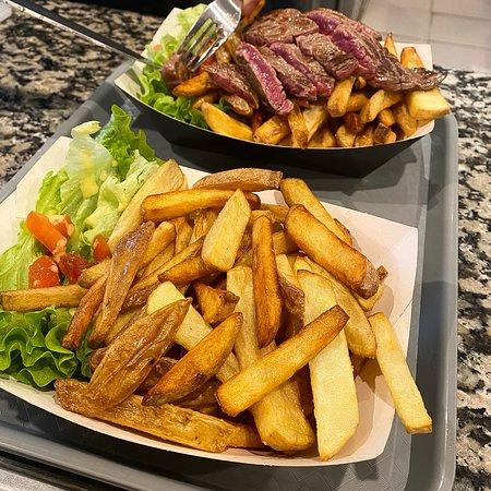 Des frites maisons... une bonne viande, que dire de plus?