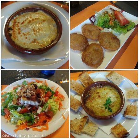 La Vall d'en Bas, España: Primeros platos de la carta