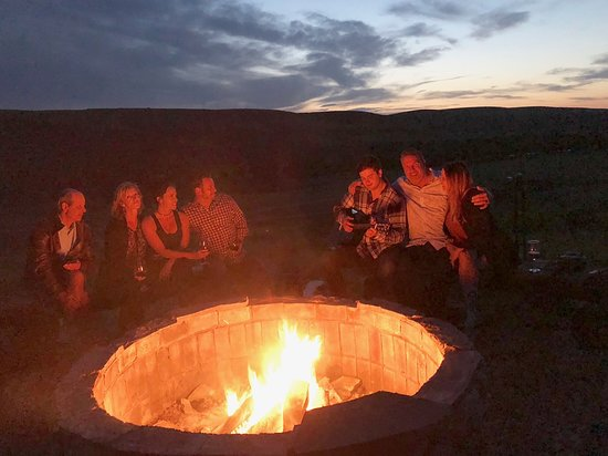 Belt, MT: Bonfire and s'mores to end the day on.