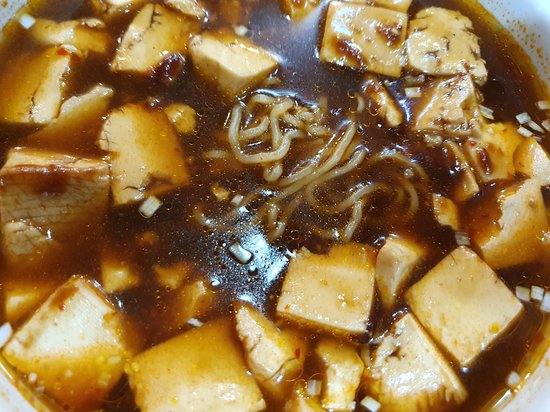 tofu and noodles