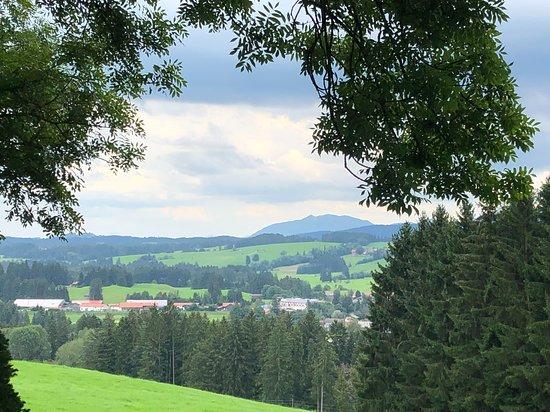 Lechbruck, เยอรมนี: Aussicht vom Café Alpenblick