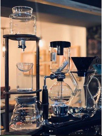 El Santuario, Colombia: Ven y prueba de los diversos métodos para las preparaciones de café.