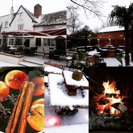 Binfield, UK: Warm up with a hot drink next to the open fire when its chilly outside