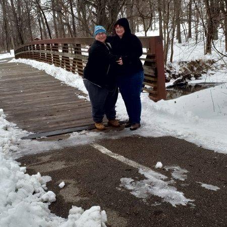 DeWitt, Айова: Beautiful winter hike.