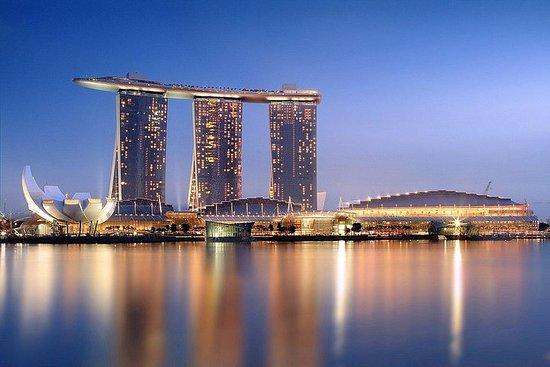 Ingresso de entrada para o Marina Bay...
