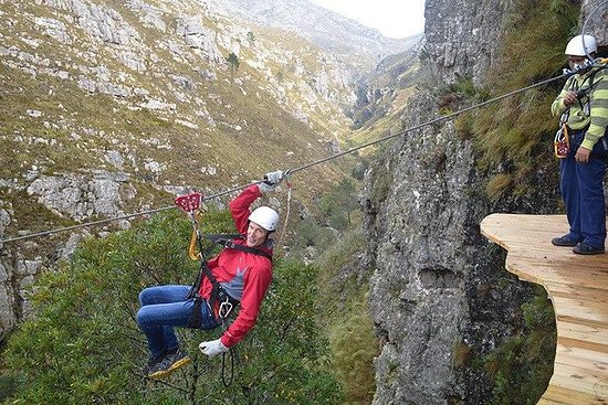 Zipline and Wine from Cape Town