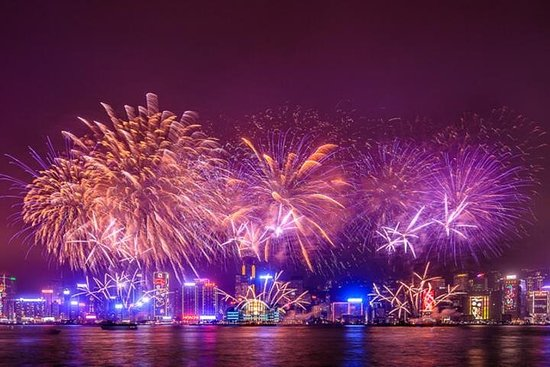 Croisière de feux d'artifice du compte à rebours 2019 - Yacht de luxe avec dîner Photo