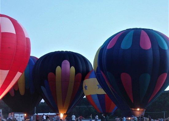 Balloon glow at the Great Wellsville (NY) Balloon Rally.