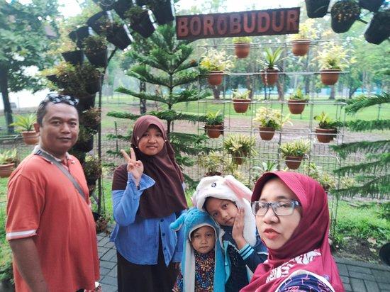 at park before entering Borobudur Temple