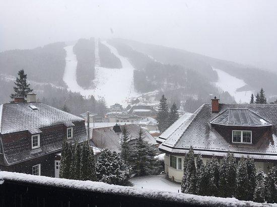ski resort up the mountain