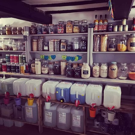 Farnham, UK: The refill selection at Okomoko