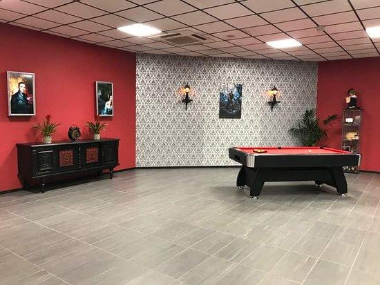 Deville-les-Rouen, France: Salle de séminaire avec billard , rétroprojecteur , bar afin que les entreprises puissent travailler tout en s'amusant.