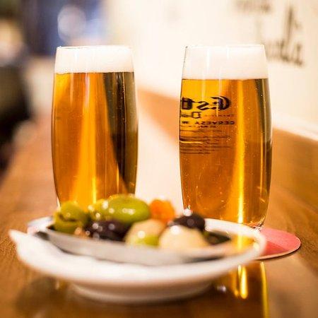 Cerveza con tapa en el Rubión