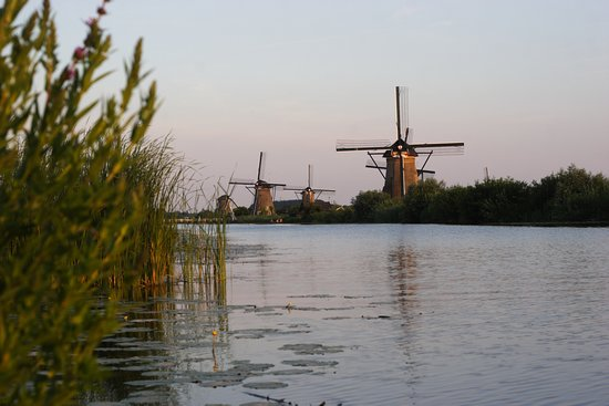 Photo from Kinderdijk at sunset. October 2017