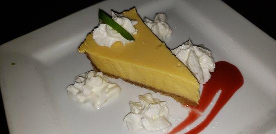 Nice tart key lime pie.