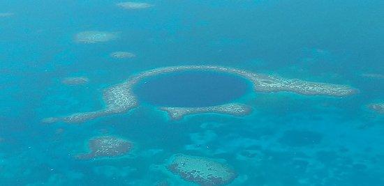 Scenic flight blue hole