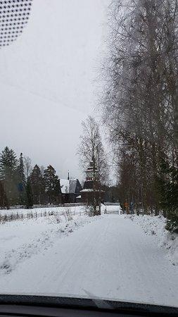 Petajavesi, ฟินแลนด์: Urokliwe miejsce zasypane śniegiem.  Szkoda, ze zimą nie można wejść do środka .