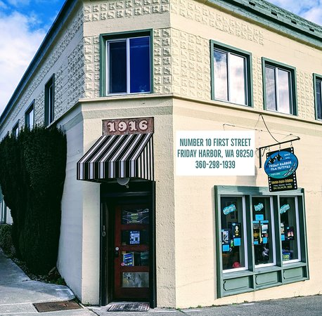 Friday Harbor Film Festival Office, just steps away from the harbor and the ferry!