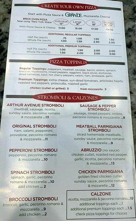 pizzas and stromboli