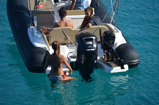 Panos Boats & Trips: 115 HP RIB This boat is available in Paxos and all the Ionian Islands and you must be a qualified driver to drive it! :)