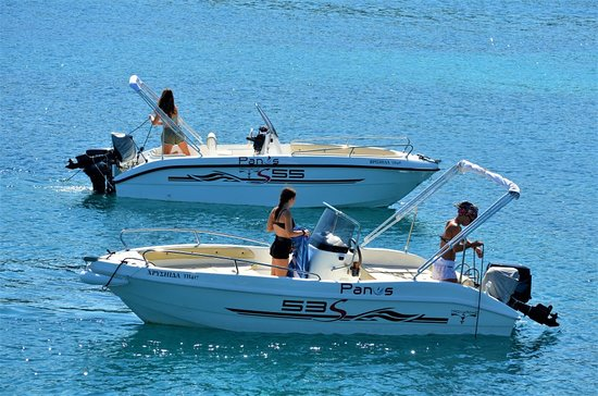 Panos Boats & Trips: Trimarchi 53S-To explore Paxos and Antipaxos in absolute comfort and safety