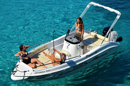 Panos Boats & Trips: Trimarchi 53S-explore the crystal blue water of Paxos ad Antiaxos with one of our deluxe boats