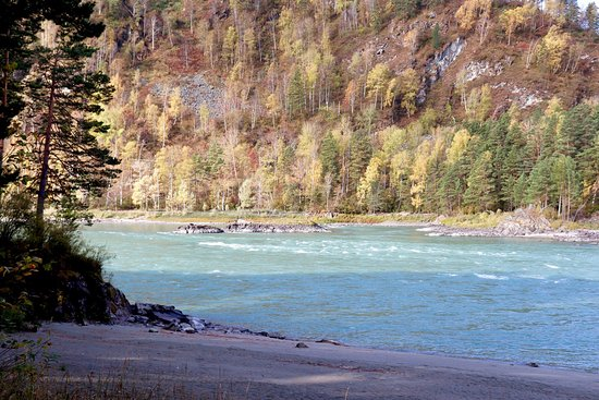 Katun river in the fall