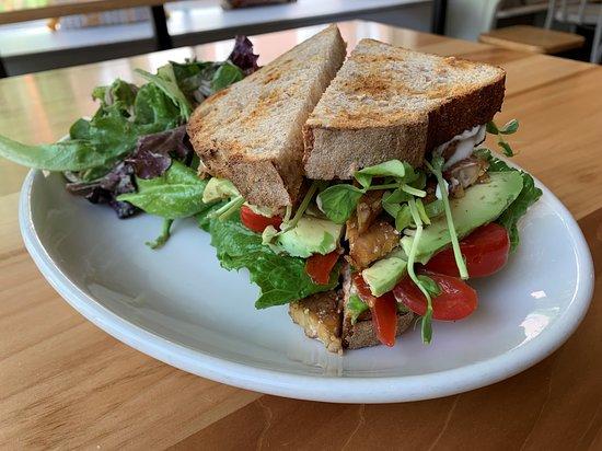 Vegan BLT on sourdough bread!