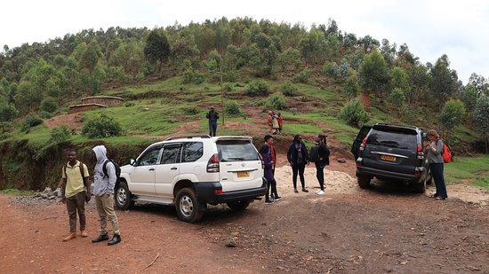 Northern Province, Rwanda: The road in between 2 Lakes :  Burera  and Ruhondo