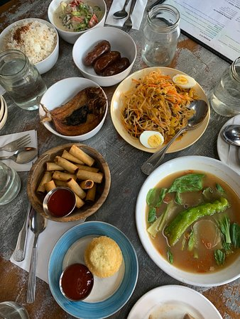 Filipino Food Tour & Lunch in the East Village: A spread that the group and I shared while learning about Filipino food and culture.
