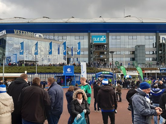 view from outside the stadium