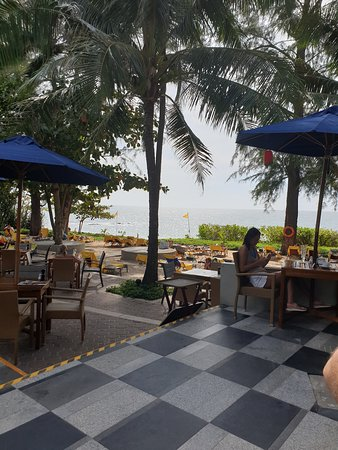 View from beach bar in hotel