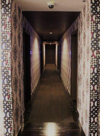 Corridor to guest rooms