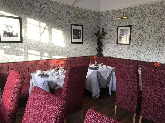 Our newly refurbished Dining Room, where we serve breakfast and evening meals ( evening meals must be pre ordered)
