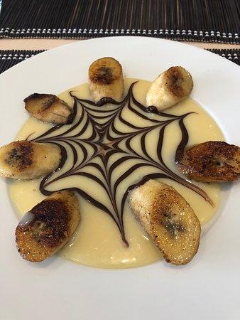 Pourville-sur-Mer, Fransa: Banane chocolat blanc et lait