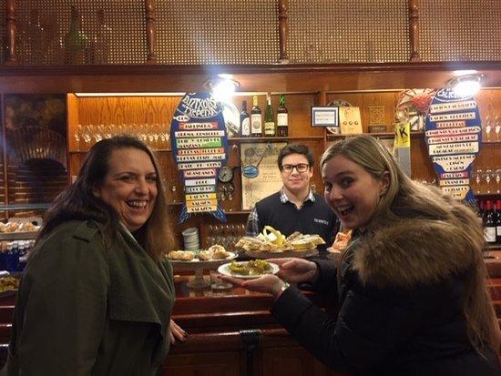 Ultimate San Sebastian Pintxos & Wine Tour (Evening): Enjoying a Gilda!