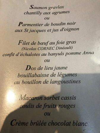 Dineault, France: Excellent repas