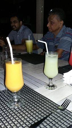 Mango and fresh lime juice
