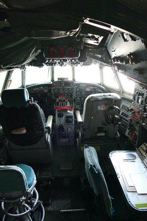 Lockheed C-121C Super Constellation flight deck.