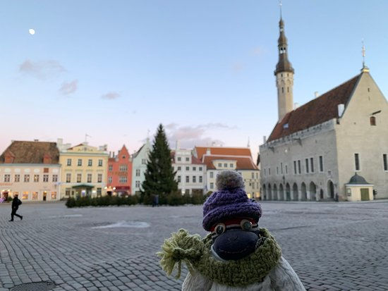 Tallinn Town Hall is the oldest city hall in North-Europe and the only preserved one in Gothic style. こちらが北ヨーロッパに唯一残るゴシック様式の市庁舎、旧市庁舎です! 14世紀半ばに最初の建物が建てられ、1404年の増築後に現在の姿となった。