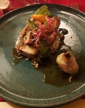 plat coqulet fraci aux champignons et foie gras