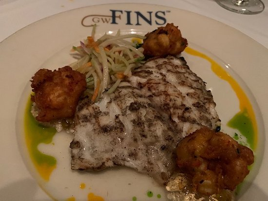 Order this - Grouper with Crawfish Beignets