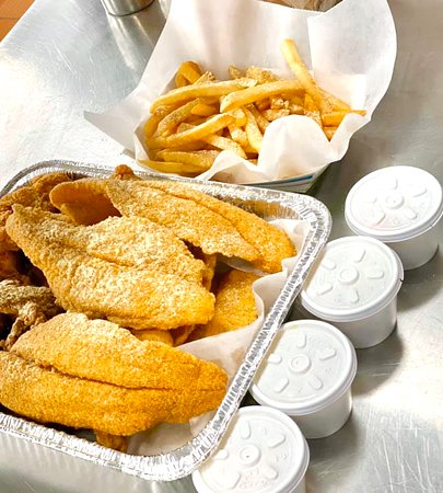 Family Pack  10 Pcs Catfish Fillets with fries, coleslaw and bread  only $21.99 on are http://ordering.app/supersharks